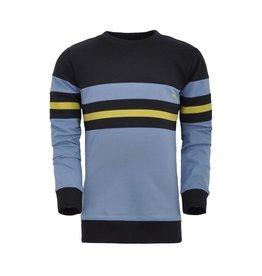 Unreal Unreal jongens sweater colorblock Black Blue