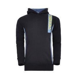 Unreal Unreal jongens hoodie Vertical Trim Black