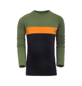 Unreal Unreal jongens shirt color block Green Black