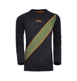 Unreal Unreal jongens shirt Diagonal Stripe Black Green
