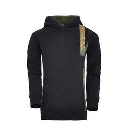 Unreal Unreal jongens hoodie Vertical Trim Black Green