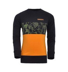 Unreal Unreal meiden sweater colorblock Black Green