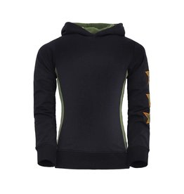 Unreal Unreal meiden hoodie Vertical Trim and Stars Black Green