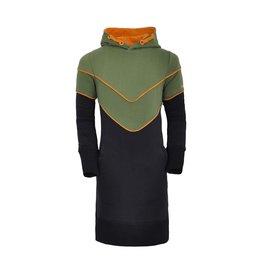 Unreal Unreal meiden jurk met V bies Green Black