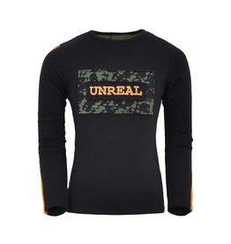Unreal Unreal meiden shirt Block aop Black Green