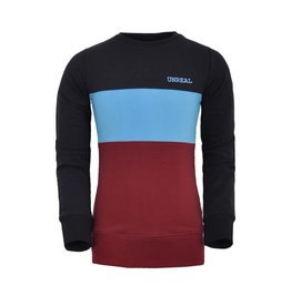 Unreal Unreal meiden sweater colorblock Black Red