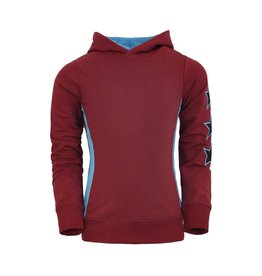 Unreal Unreal meiden hoodie Vertical Trim and Stars Red Blue
