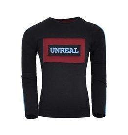 Unreal Unreal meiden shirt Block logo Black Red