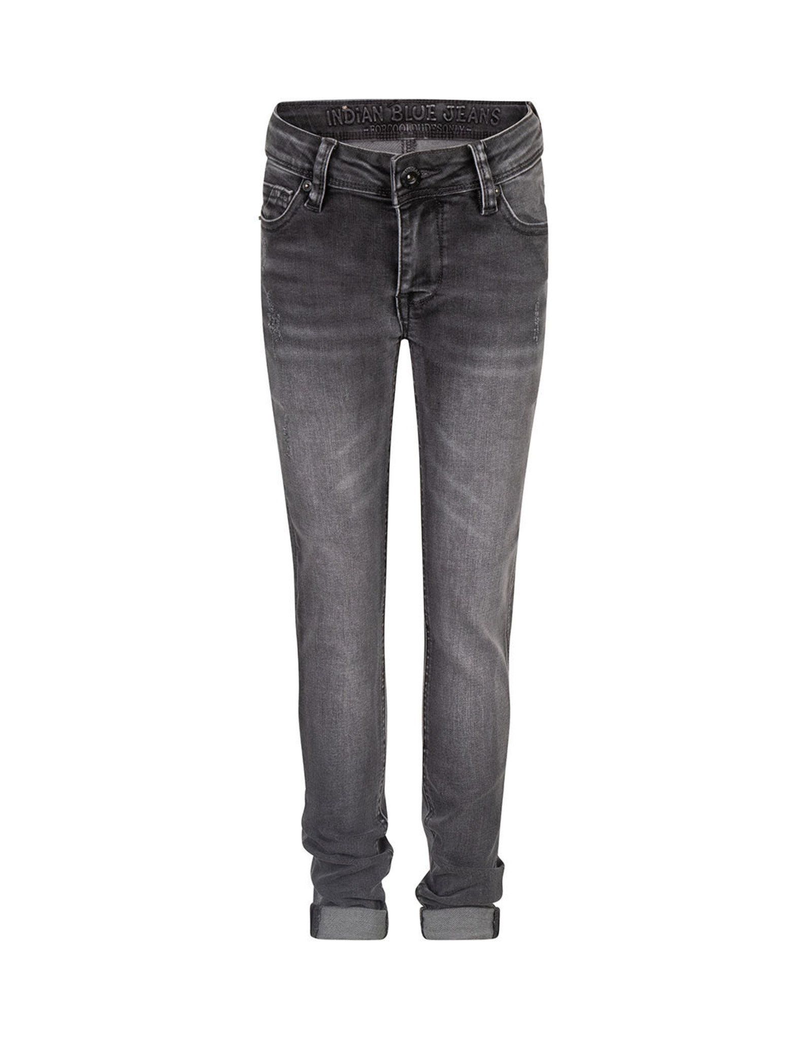 Indian Blue Jeans Indian Blue jongens skinny fit jeans Ryan Used Grey Denim