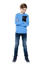 Indian Blue Jeans Indian Blue jongens skinny fit jeans Ryan Blue Black