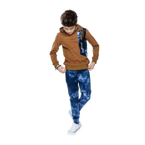 Indian Blue Jeans Indian Blue jongens hoodie Tie Dye Colorblock Cognac