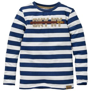 Quapi Quapi jongens shirt Kaleb aop Blue Force Stripe