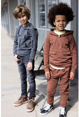 LEVV Levv jongens sweater Rijk aop Black Melee Geomatric