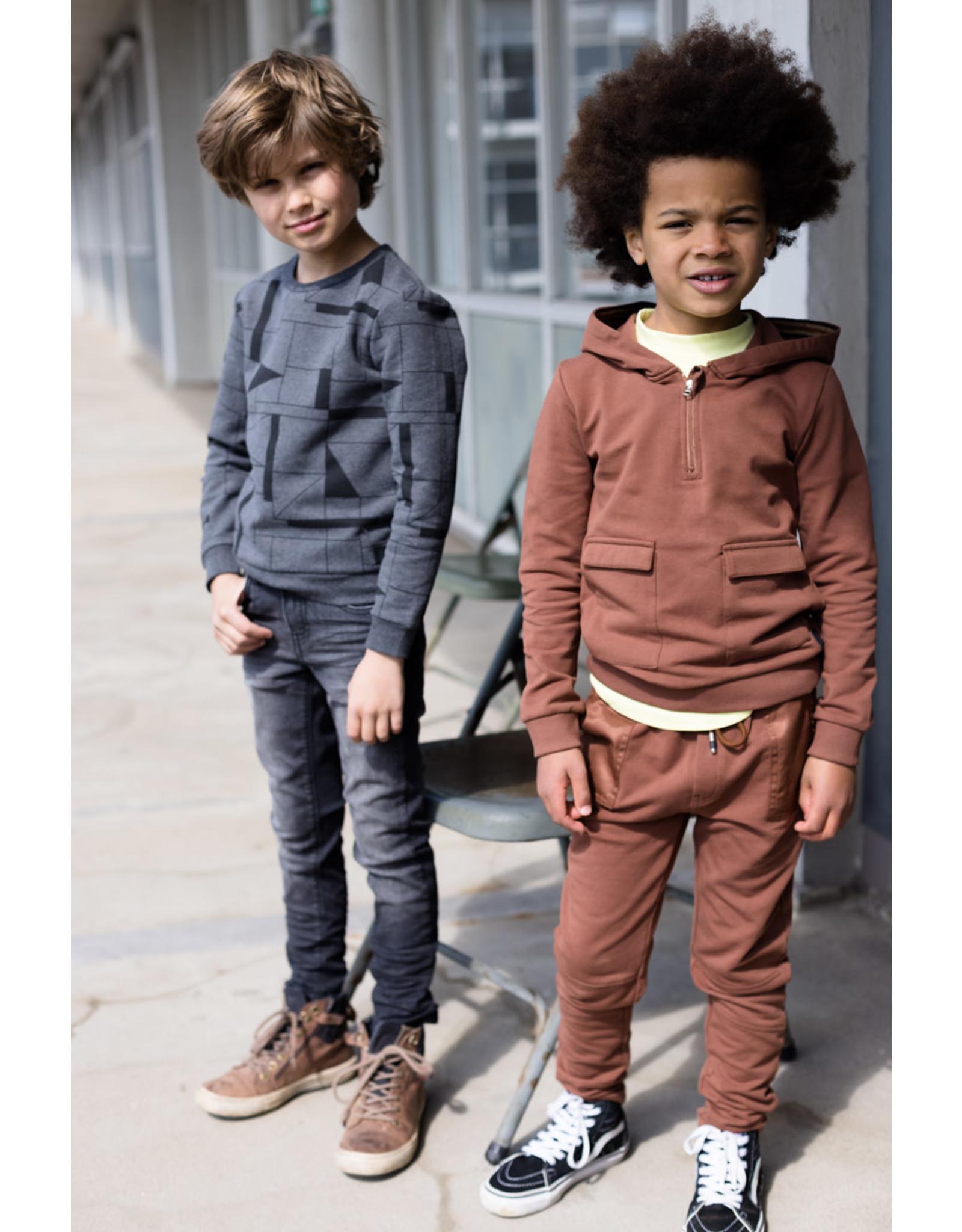 LEVV Levv jongens hoodie Rodney Rust