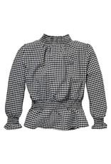 LEVV Levv meiden shirt Robine Black White Check