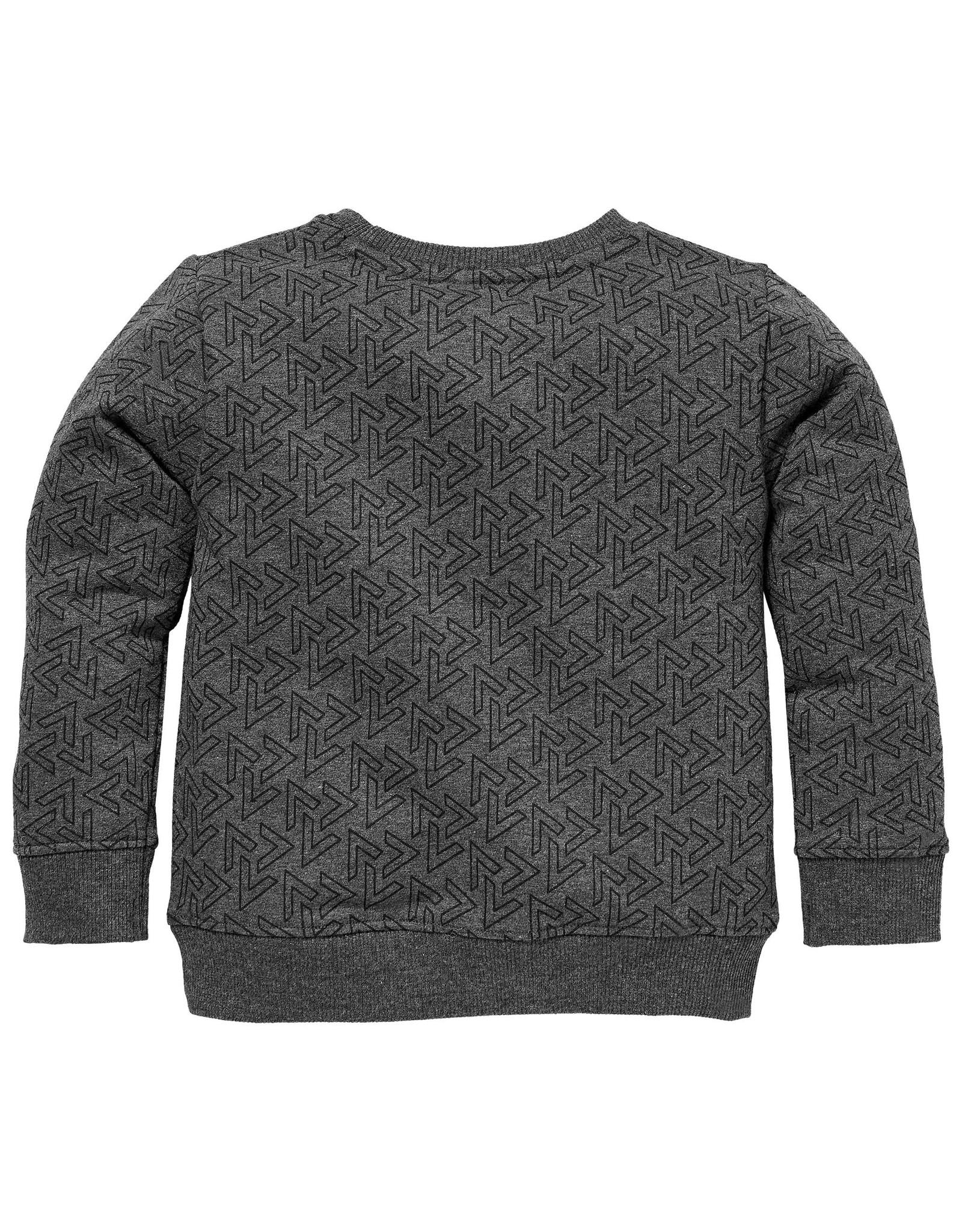 LEVV Levv jongens sweater Sid aop Black Melee V