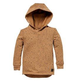 LEVV Levv jongens hoodie Silas aop Brown Sand Paint