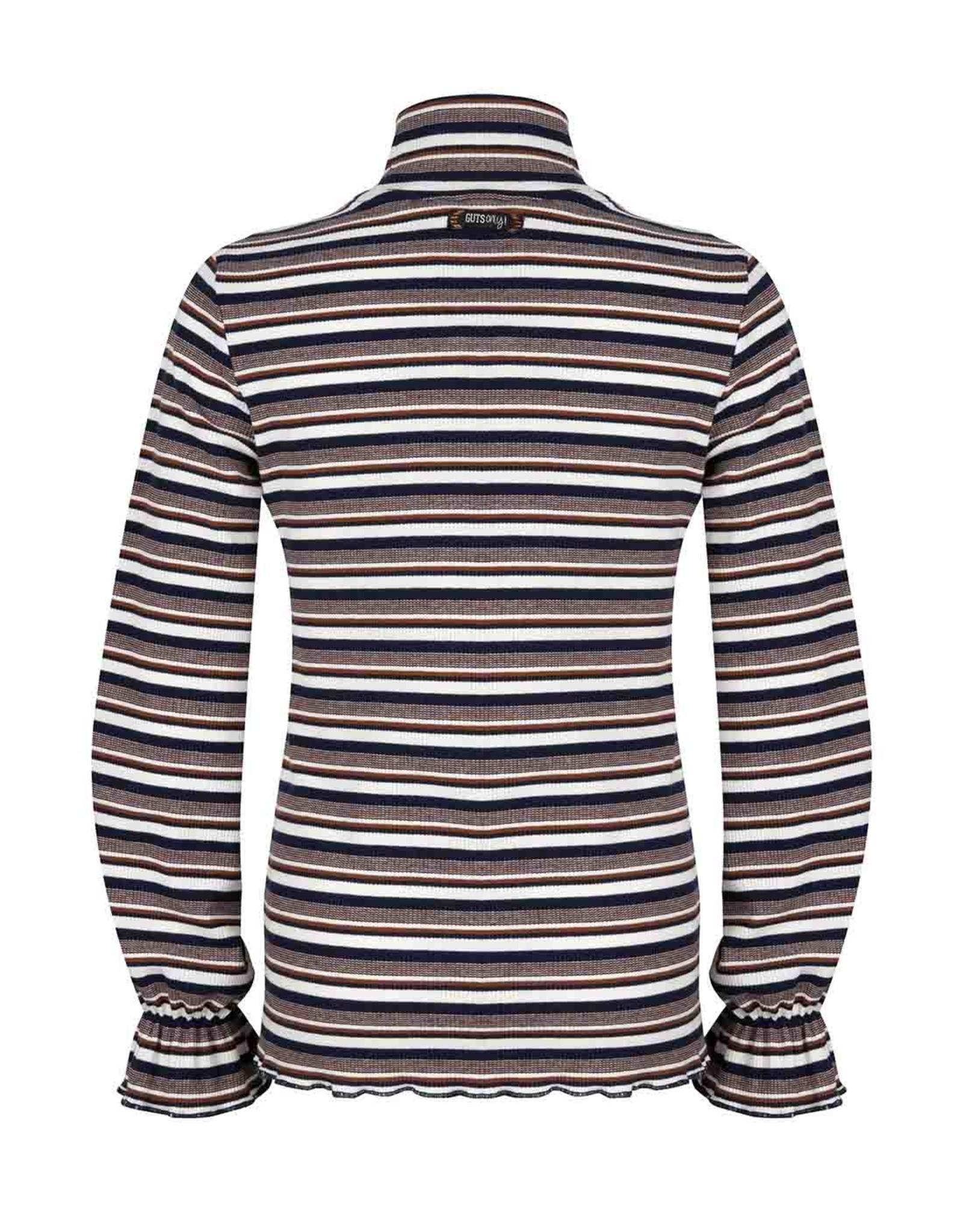 Indian Blue Jeans Indian Blue meiden coll shirt Striped Sweet Navy
