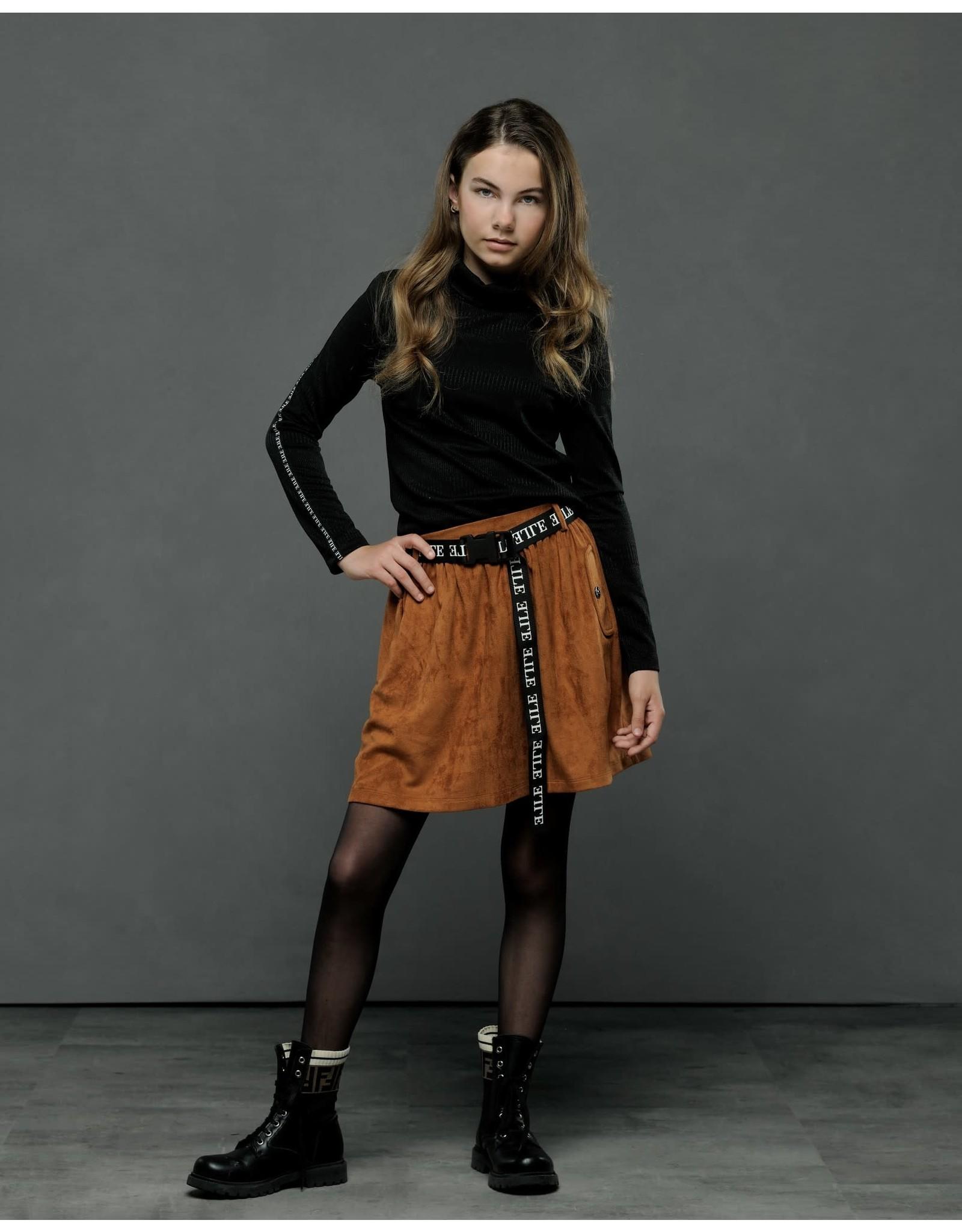 Elle Chic Elle Chic meiden coll shirt Naima Black
