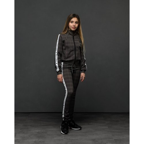 Elle Chic Elle Chic meiden joggingbroek Dawn Check Black