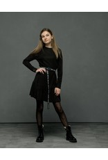 Elle Chic Elle Chic meiden jurk Sydney Stripe Black