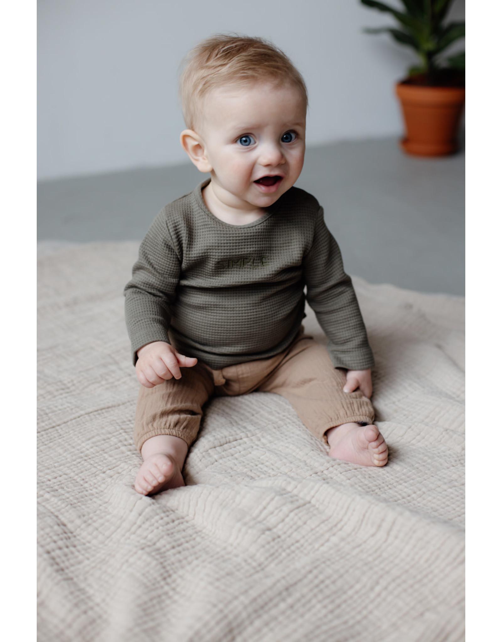 LEVV Levv newborn baby jongens shirt Bastin Green Olive