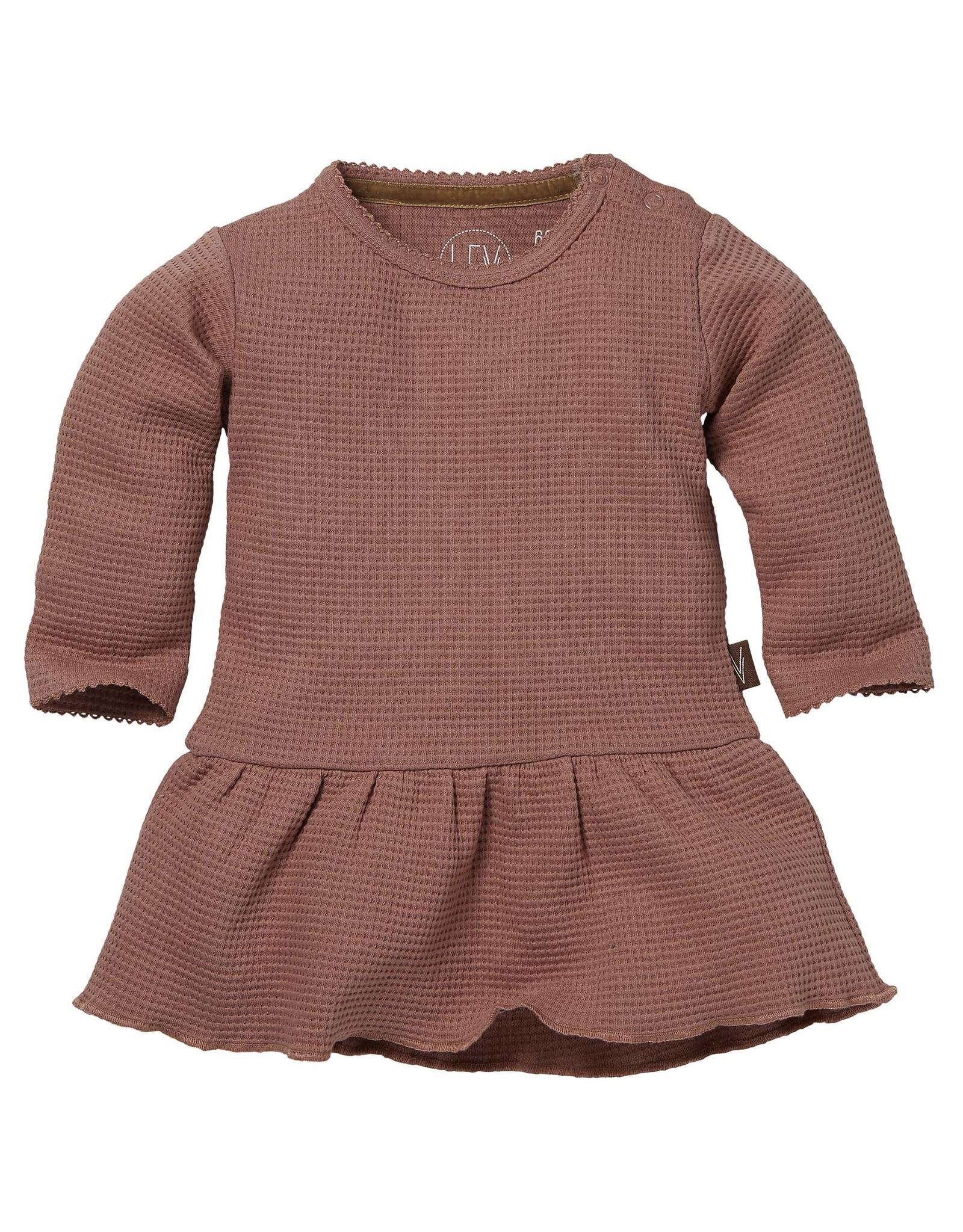 LEVV Levv newborn baby meisjes jurk Baukje Mauve