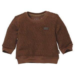 LEVV Levv newborn baby jongens sweater Ben Brown Almond