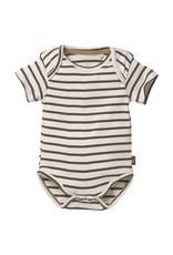 LEVV Levv newborn baby jongens romper Bobbie aop Brown Almond Stripe