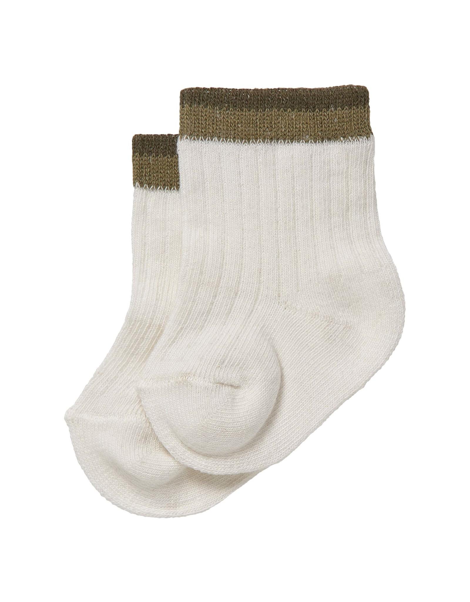 LEVV Levv newborn baby jongens sokken Bram Off White