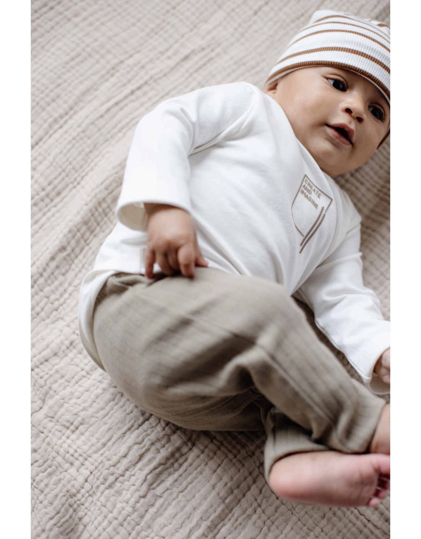 LEVV Levv newborn baby jongens shirt Bart Off White