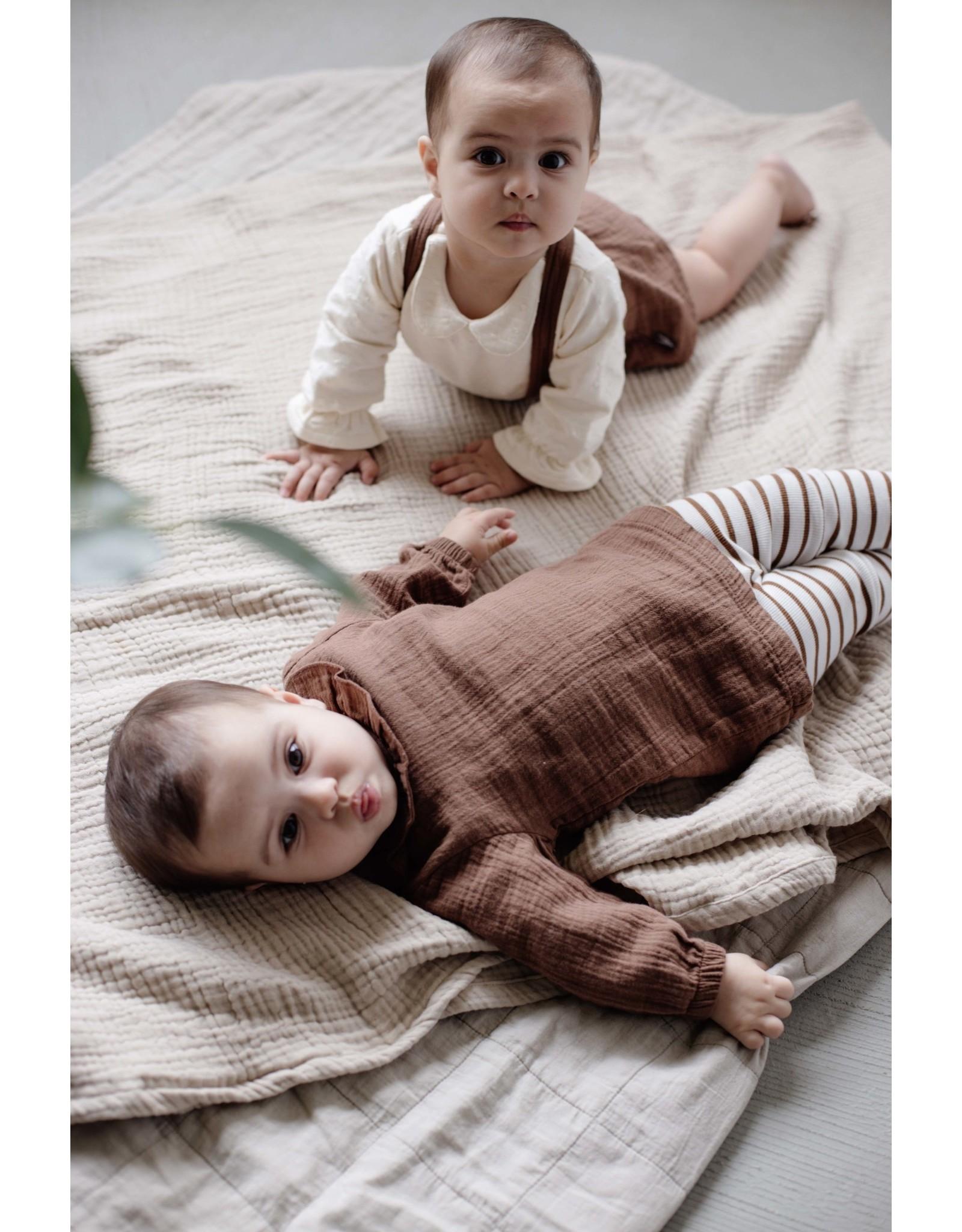 LEVV Levv newborn baby meisjes jurk Barba Brown Almond