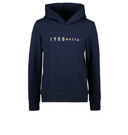 TYGO & vito TYGO & vito jongens hoodie logo Navy