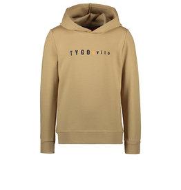TYGO & vito TYGO & vito jongens hoodie logo Dark Sand