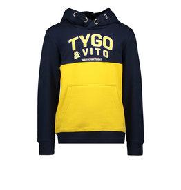 TYGO & vito TYGO & vito jongens hoodie colorblock logo Navy
