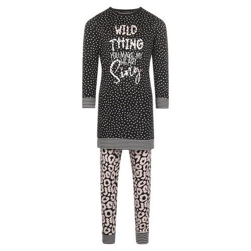 Charlie Choe Charlie Choe meiden pyjama Wild Thing Black Pink