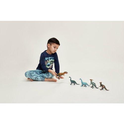 Charlie Choe Charlie Choe jongens pyjama Dino Indigo