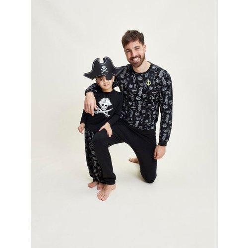Charlie Choe Charlie Choe jongens pyjama Pirates Black