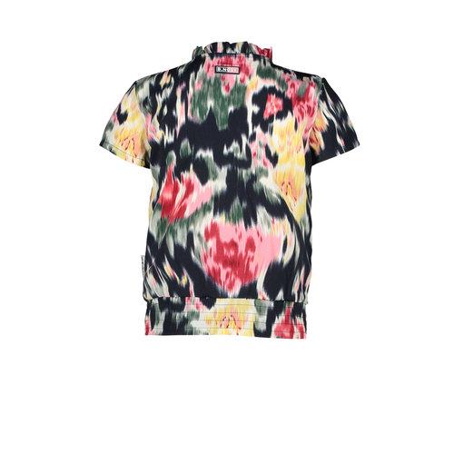 B.Nosy B.Nosy meisjes korte mouwen blouse Youth Flower aop