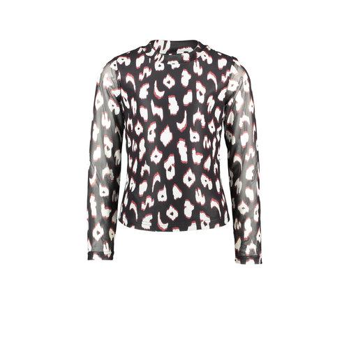 B.Nosy B.Nosy meisjes shirt met turtle neck You Leopard