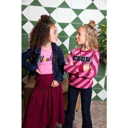 B.Nosy B.Nosy meisjes gestreepte sweater Club Youth Big Stripe
