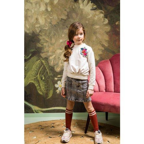 B.Nosy B.Nosy meisjes sweater met Flowers Cotton