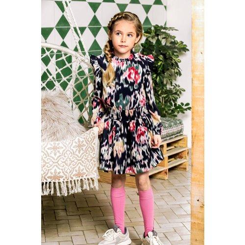 B.Nosy B.Nosy meisjes jurk Youth Flower aop