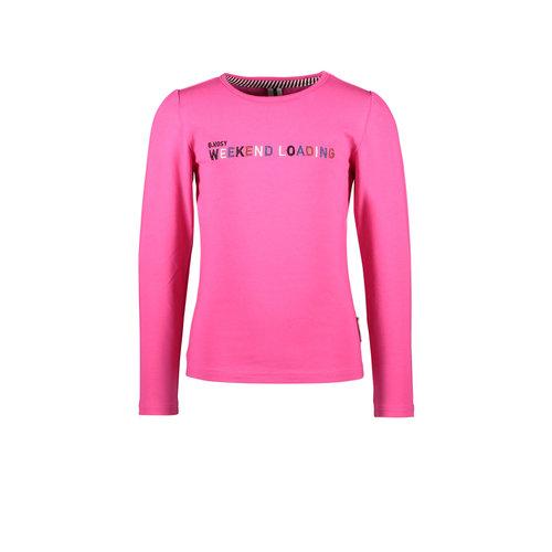 B.Nosy B.Nosy meisjes shirt Weekend Loading Beetroot Pink