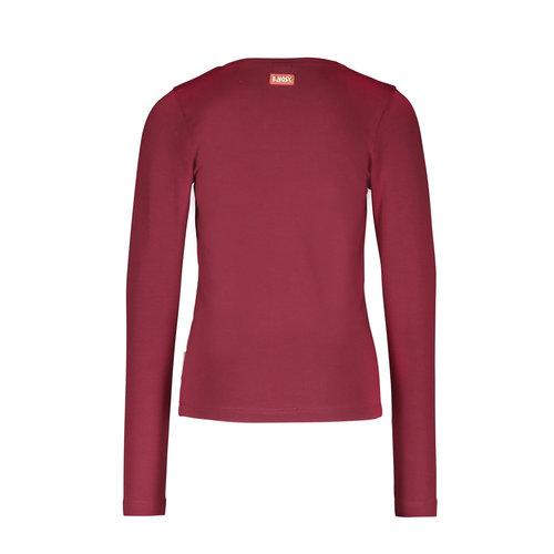 B.Nosy B.Nosy meisjes shirt Unlimited Maroon Red