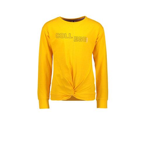 B.Nosy B.Nosy meisjes shirt met knoop College Saffron