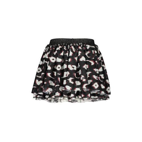 B.Nosy B.Nosy meisjes 2-layer rok aop Leopard Black