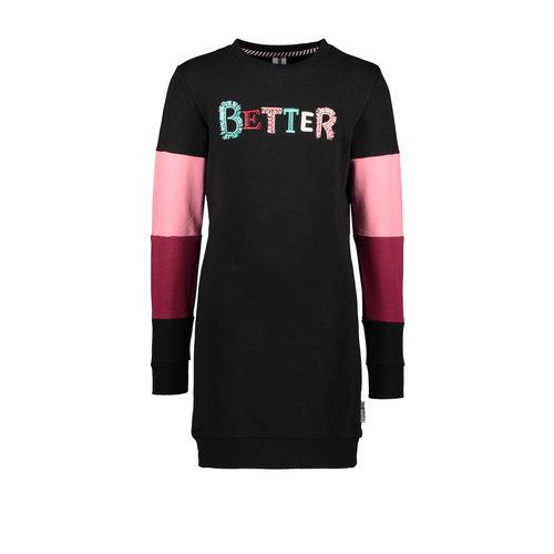 B.Nosy B.Nosy meisjes sweat jurk Better Black