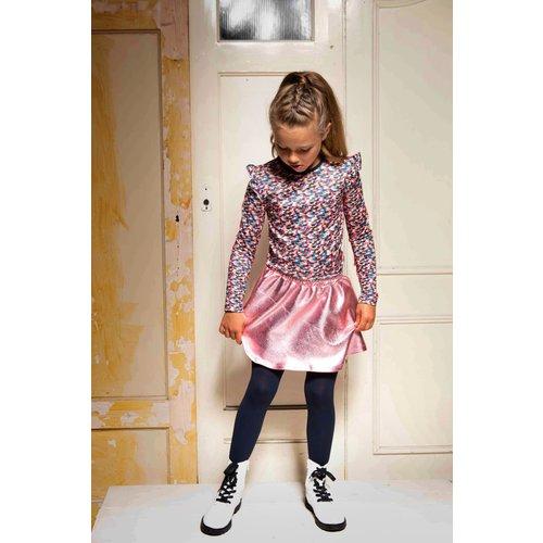 B.Nosy B.Nosy meisjes jurk met gecoate rok Sporty Spickles