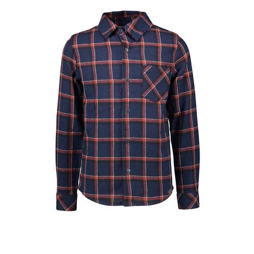 B.Nosy B.Nosy jongens geruiten blouse met pocket Clever Check